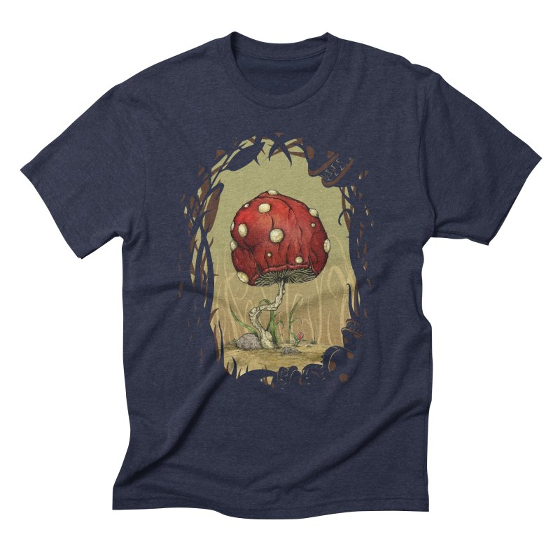 Grow Mario - Border Men's Triblend T-Shirt by Deep Space Designs