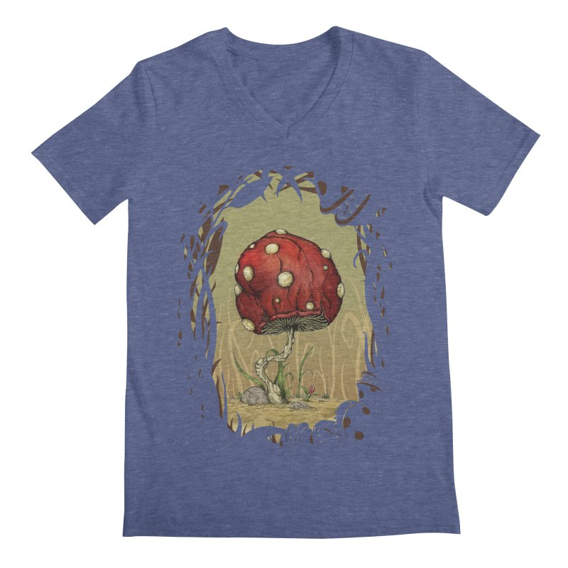 Grow Mario - Border Men's V-Neck by tristan's Artist Shop