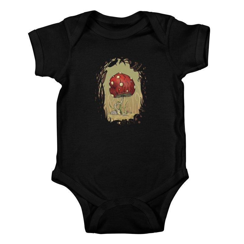 Grow Mario - Border Kids Baby Bodysuit by tristan's Artist Shop