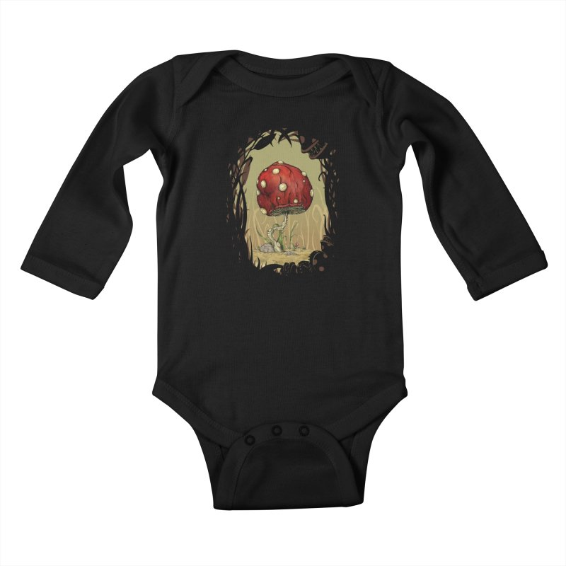 Grow Mario - Border Kids Baby Longsleeve Bodysuit by Deep Space Designs