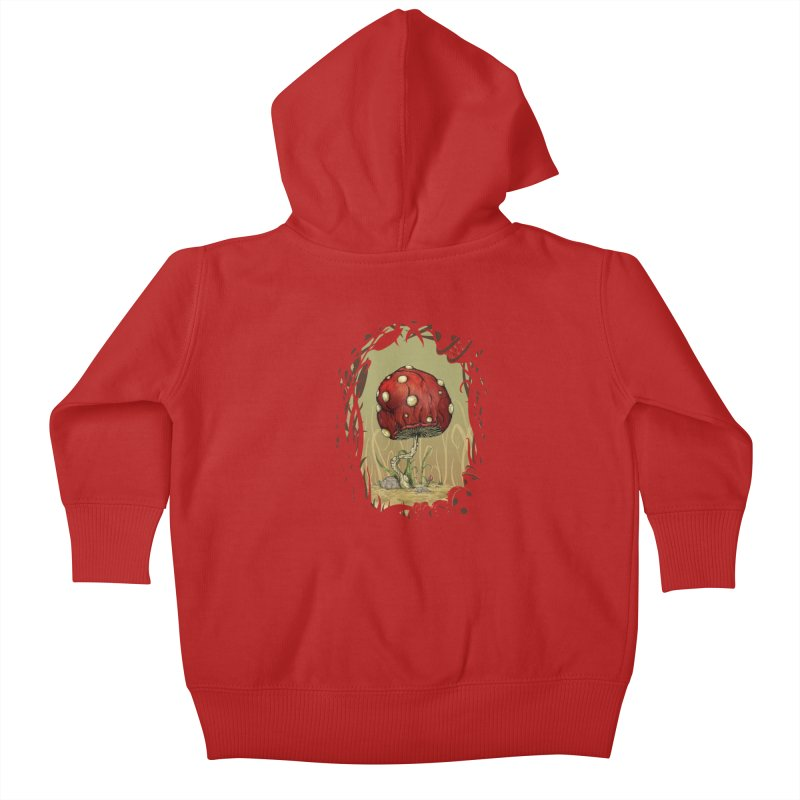 Grow Mario - Border Kids Baby Zip-Up Hoody by tristan's Artist Shop