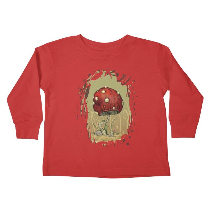 Grow Mario - Border Kids Toddler Longsleeve T-Shirt by tristan's Artist Shop