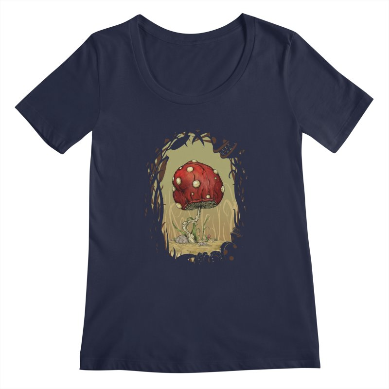 Grow Mario - Border Women's Scoopneck by tristan's Artist Shop