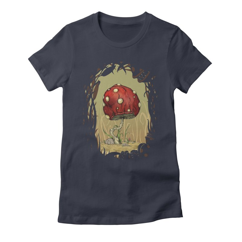 Grow Mario - Border Women's Fitted T-Shirt by tristan's Artist Shop
