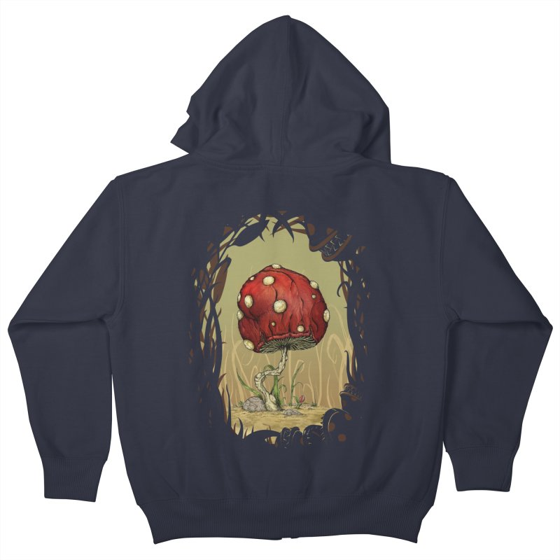 Grow Mario - Border Kids Zip-Up Hoody by tristan's Artist Shop