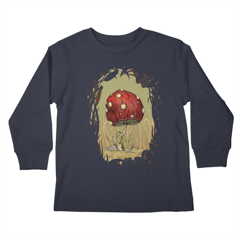 Grow Mario - Border Kids Longsleeve T-Shirt by Deep Space Designs