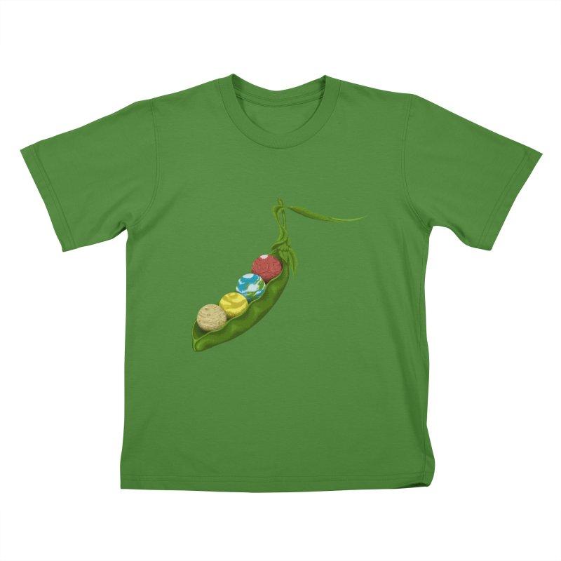 World Peas Kids T-Shirt by Deep Space Designs