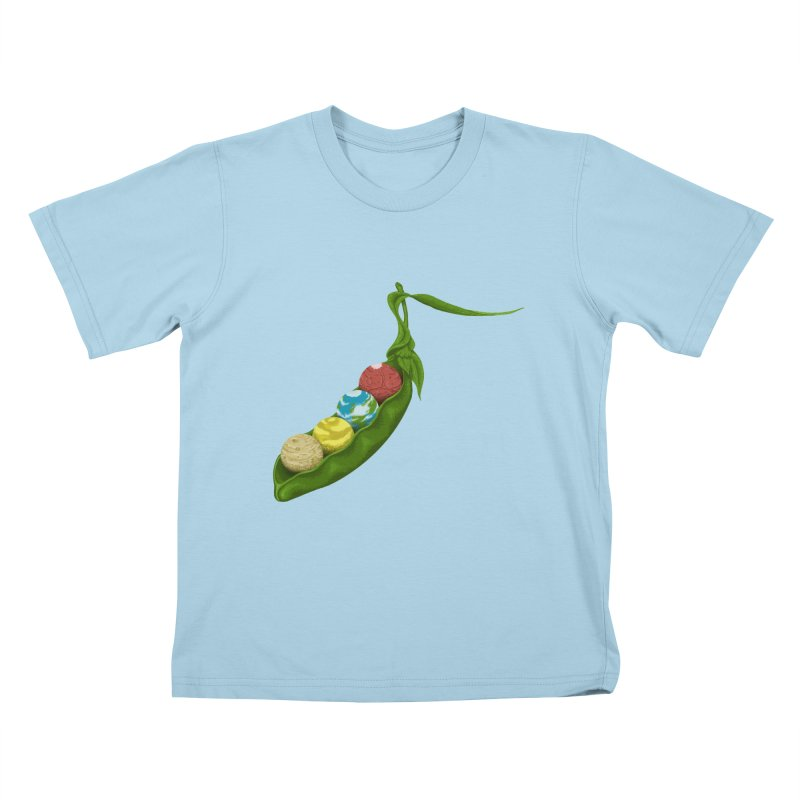 World Peas Kids T-shirt by tristan's Artist Shop