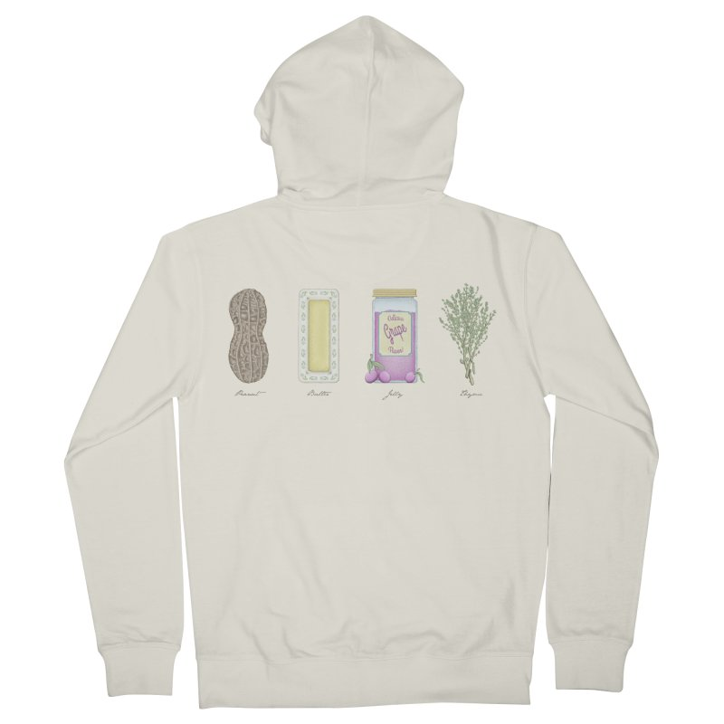 Peanut Butter Jelly Thyme Women's Zip-Up Hoody by Deep Space Designs