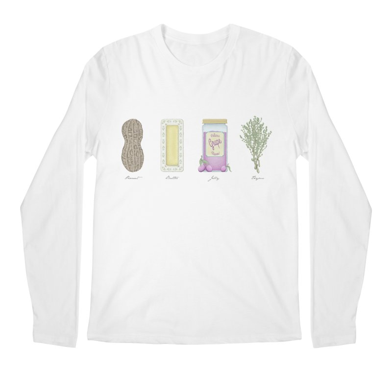 Peanut Butter Jelly Thyme Men's Longsleeve T-Shirt by tristan's Artist Shop
