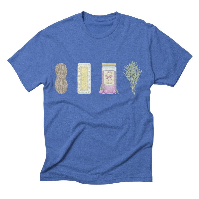 Peanut Butter Jelly Thyme Men's Triblend T-shirt by tristan's Artist Shop