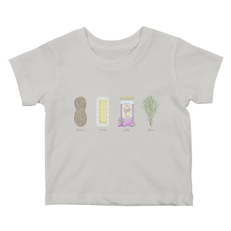 Peanut Butter Jelly Thyme Kids Baby T-Shirt by tristan's Artist Shop