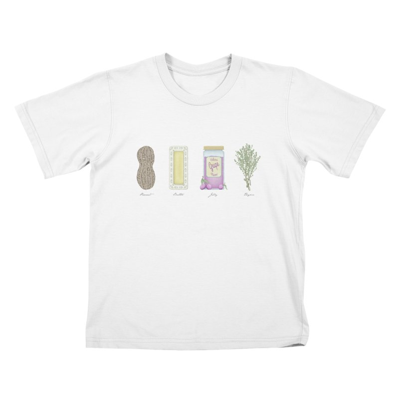 Peanut Butter Jelly Thyme Kids T-Shirt by Deep Space Designs