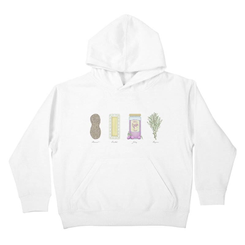 Peanut Butter Jelly Thyme Kids Pullover Hoody by tristan's Artist Shop
