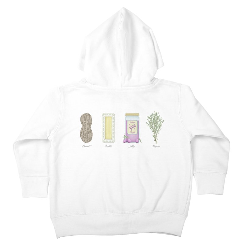 Peanut Butter Jelly Thyme Kids Toddler Zip-Up Hoody by tristan's Artist Shop