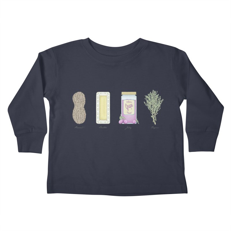 Peanut Butter Jelly Thyme Kids Toddler Longsleeve T-Shirt by Deep Space Designs