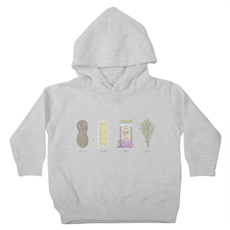 Peanut Butter Jelly Thyme Kids Toddler Pullover Hoody by tristan's Artist Shop