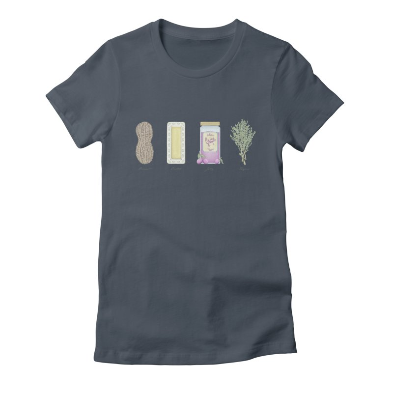 Peanut Butter Jelly Thyme Women's Fitted T-Shirt by tristan's Artist Shop