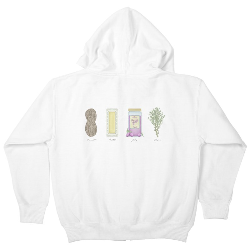 Peanut Butter Jelly Thyme Kids Zip-Up Hoody by tristan's Artist Shop