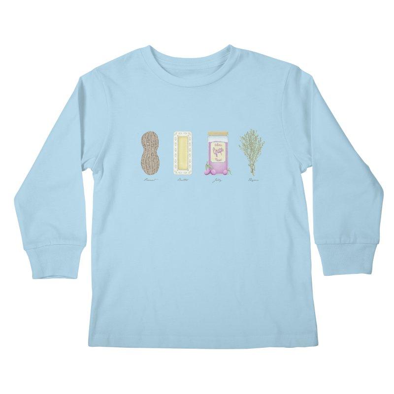 Peanut Butter Jelly Thyme Kids Longsleeve T-Shirt by tristan's Artist Shop