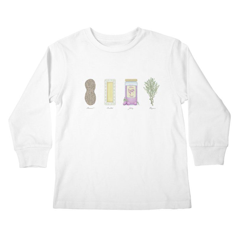 Peanut Butter Jelly Thyme Kids Longsleeve T-Shirt by tristan's Artist Shop