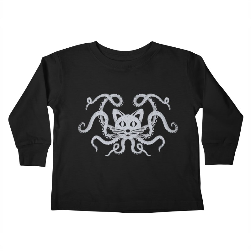 Octopuss Kids Toddler Longsleeve T-Shirt by Deep Space Designs