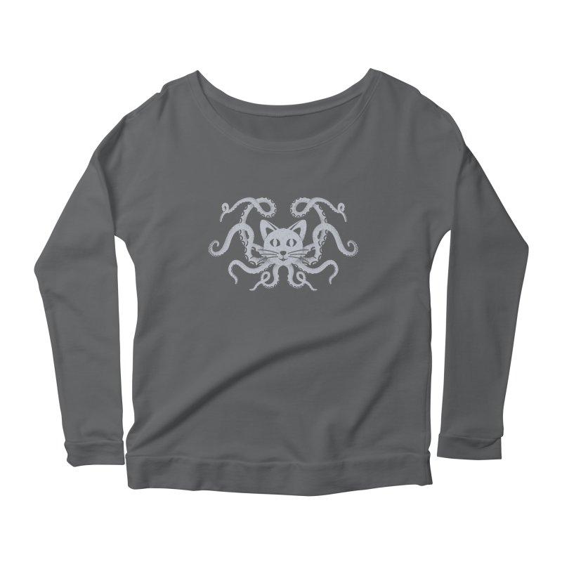 Octopuss Women's Longsleeve Scoopneck  by tristan's Artist Shop