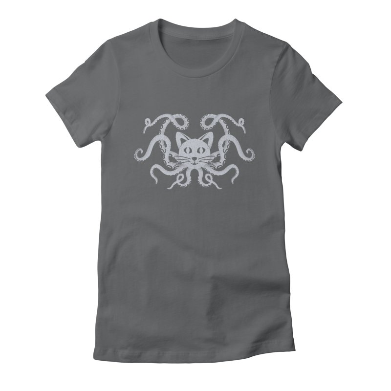 Octopuss Women's Fitted T-Shirt by Deep Space Designs