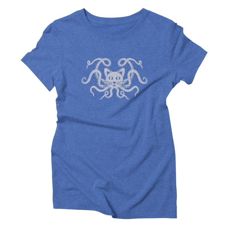 Octopuss Women's Triblend T-shirt by tristan's Artist Shop