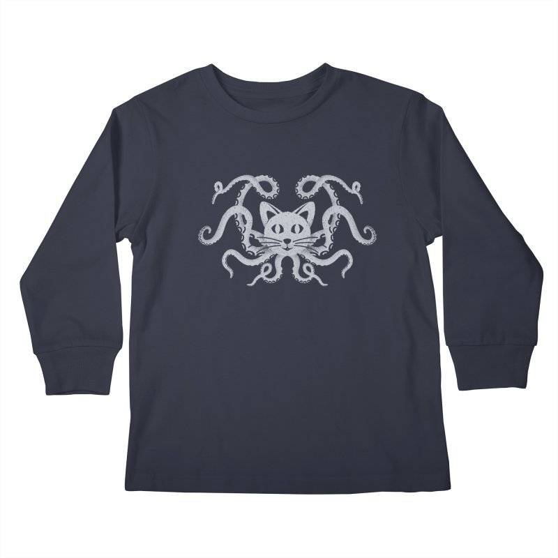 Octopuss Kids Longsleeve T-Shirt by Deep Space Designs