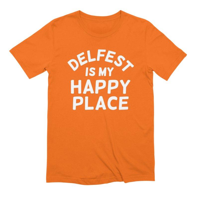 Happy Place Men's T-Shirt by troublemuffin's Artist Shop