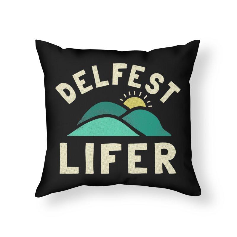 Delfest Lifer Home Throw Pillow by troublemuffin's Artist Shop