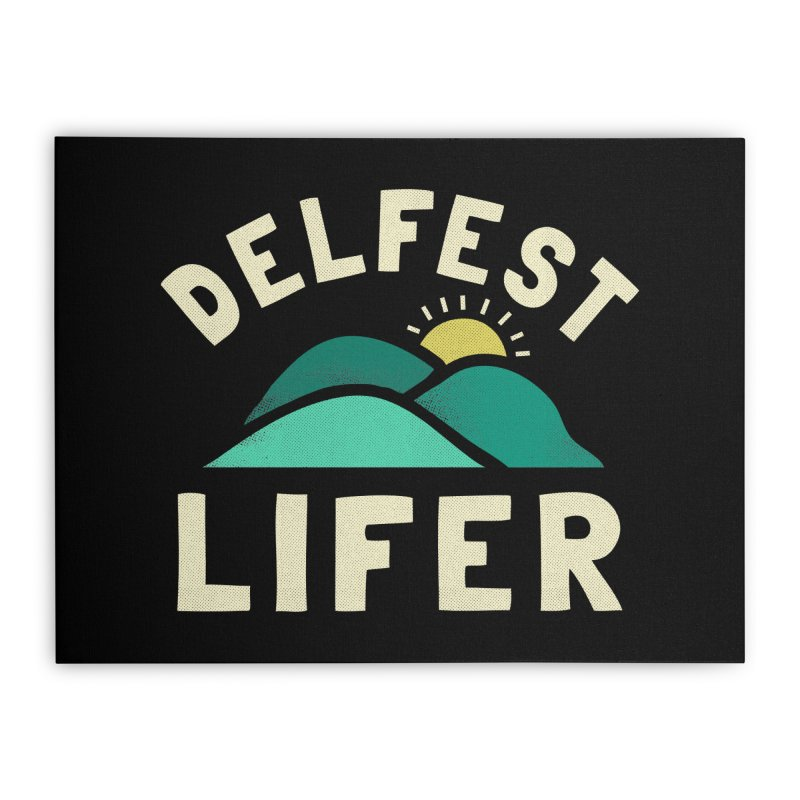 Delfest Lifer Home Stretched Canvas by troublemuffin's Artist Shop