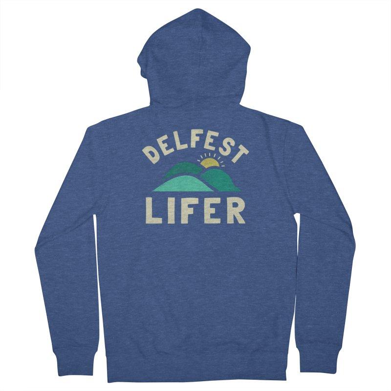 Delfest Lifer Men's Zip-Up Hoody by troublemuffin's Artist Shop