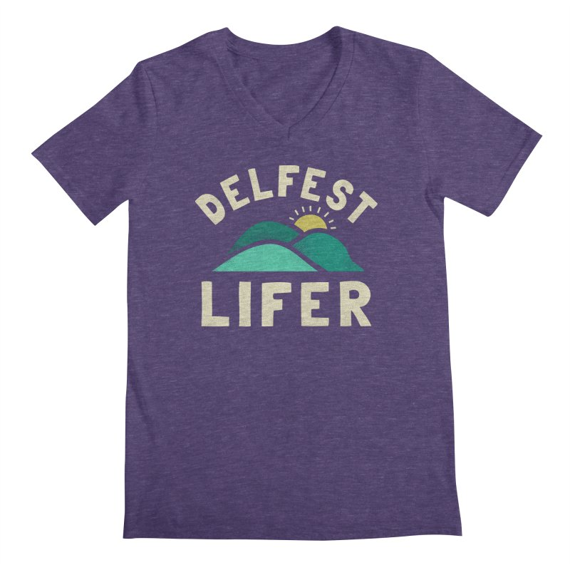 Delfest Lifer Men's V-Neck by troublemuffin's Artist Shop