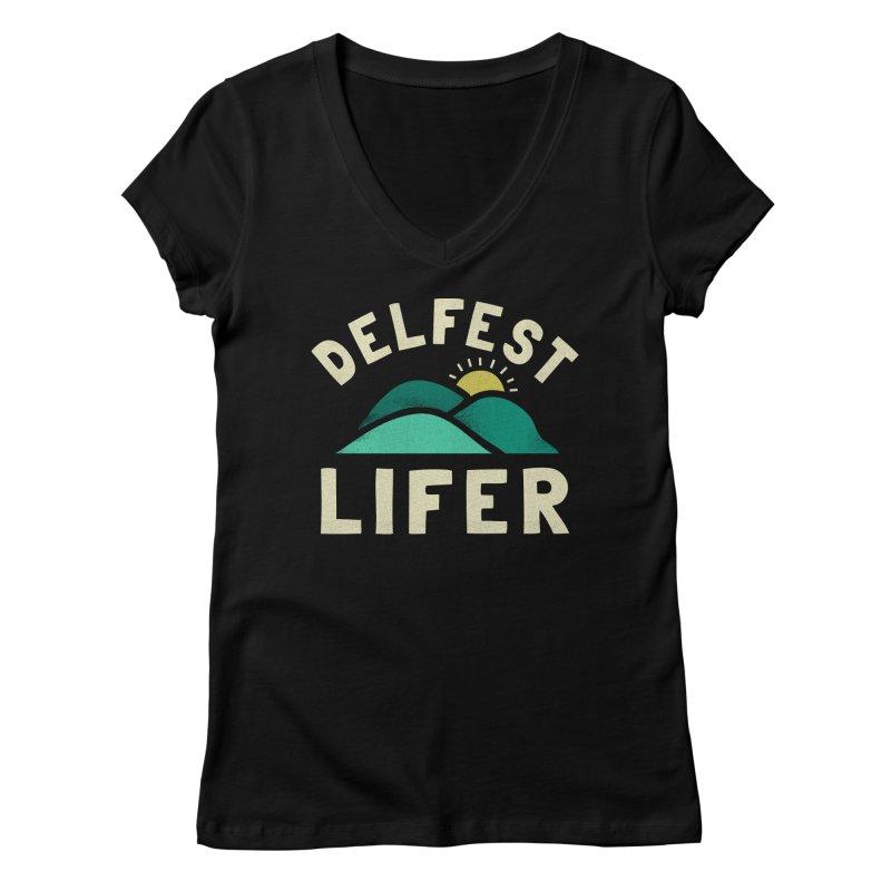 Delfest Lifer Women's V-Neck by troublemuffin's Artist Shop