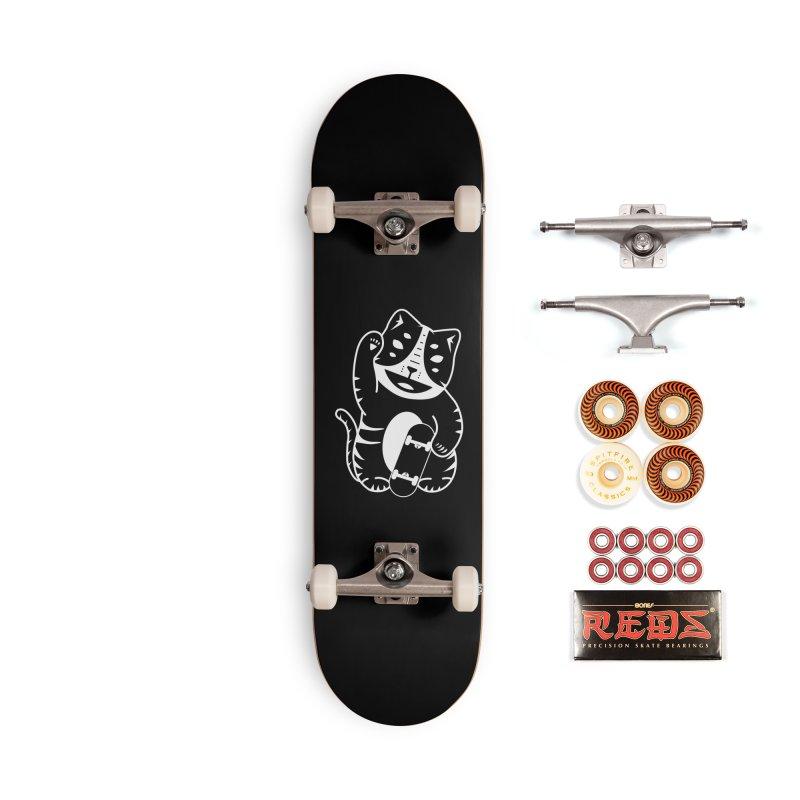 Money Cat Accessories Skateboard by troublemuffin's Artist Shop
