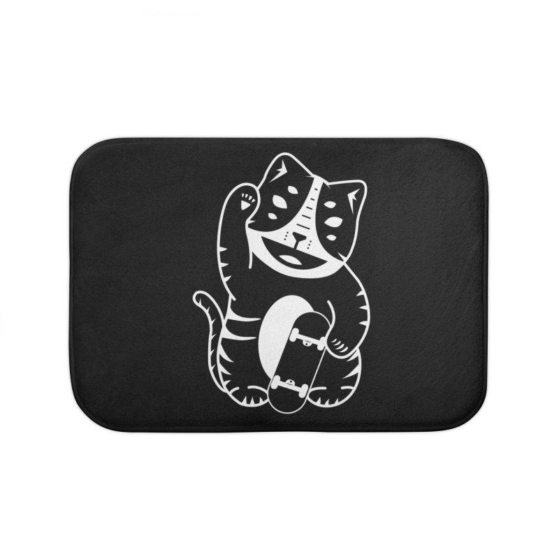 Money Cat Home Bath Mat by troublemuffin's Artist Shop