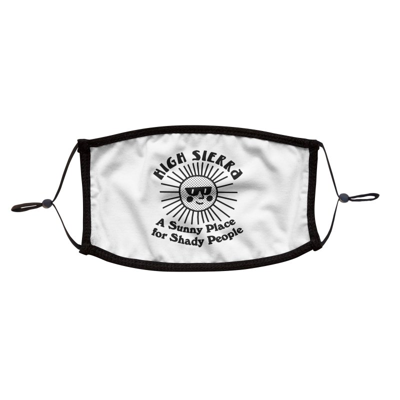 Sunny Place for Shady People Accessories Face Mask by troublemuffin's Artist Shop