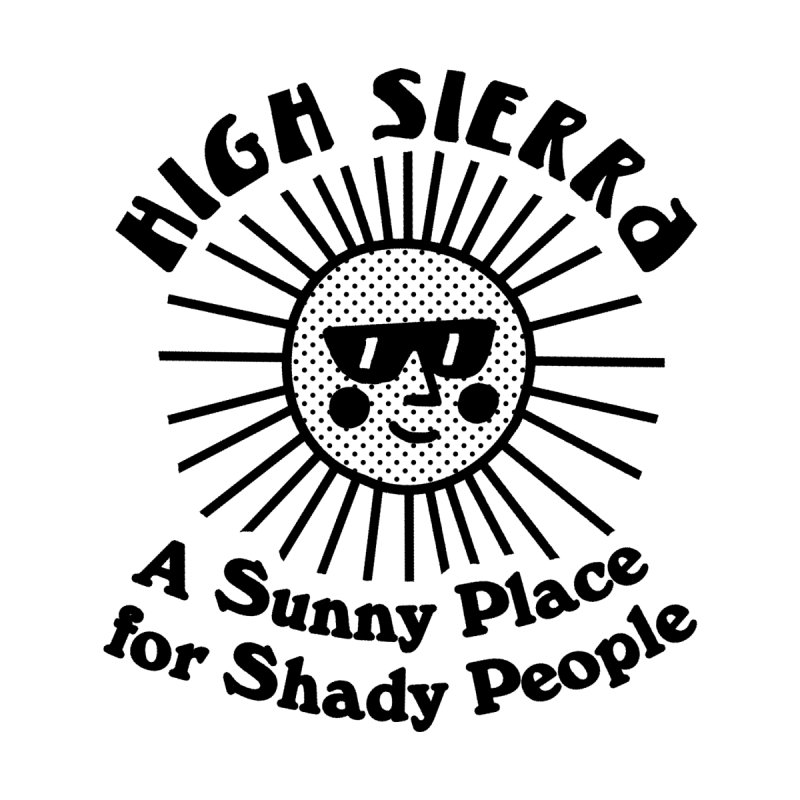 Sunny Place for Shady People Women's V-Neck by troublemuffin's Artist Shop