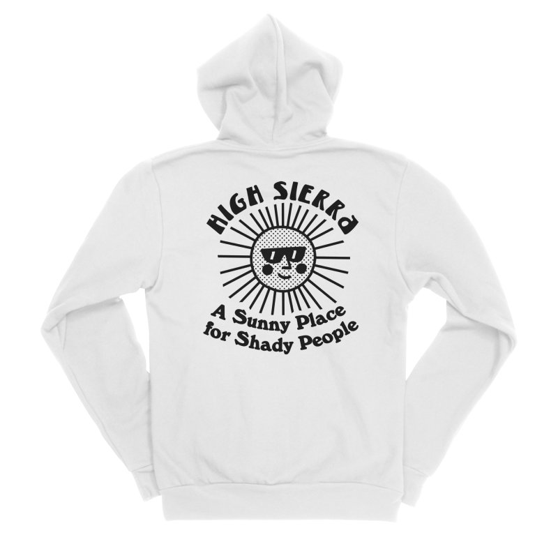 Sunny Place for Shady People Men's Zip-Up Hoody by troublemuffin's Artist Shop