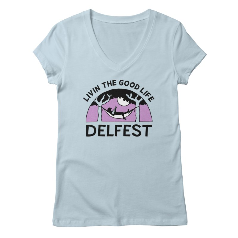 Livin' the Good Life Women's V-Neck by troublemuffin's Artist Shop