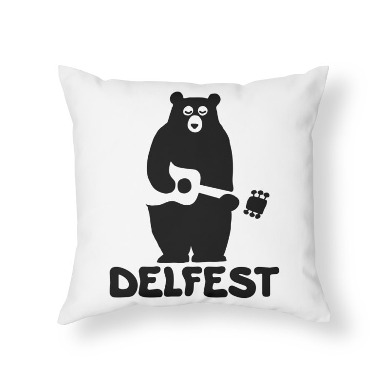 The Bear Home Throw Pillow by troublemuffin's Artist Shop