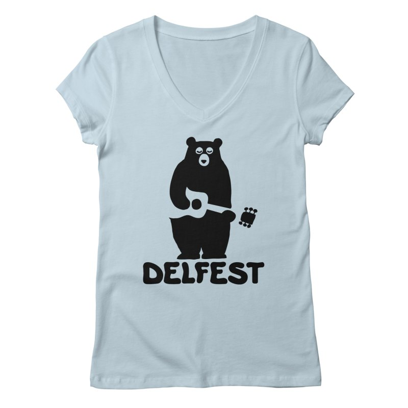 The Bear Women's V-Neck by troublemuffin's Artist Shop