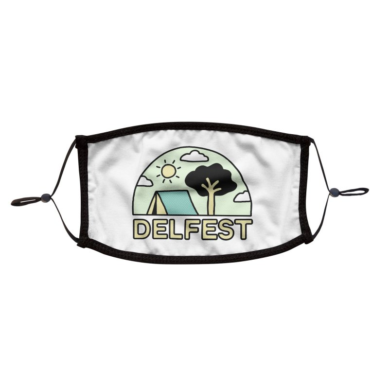 Delfest Campin' Accessories Face Mask by troublemuffin's Artist Shop