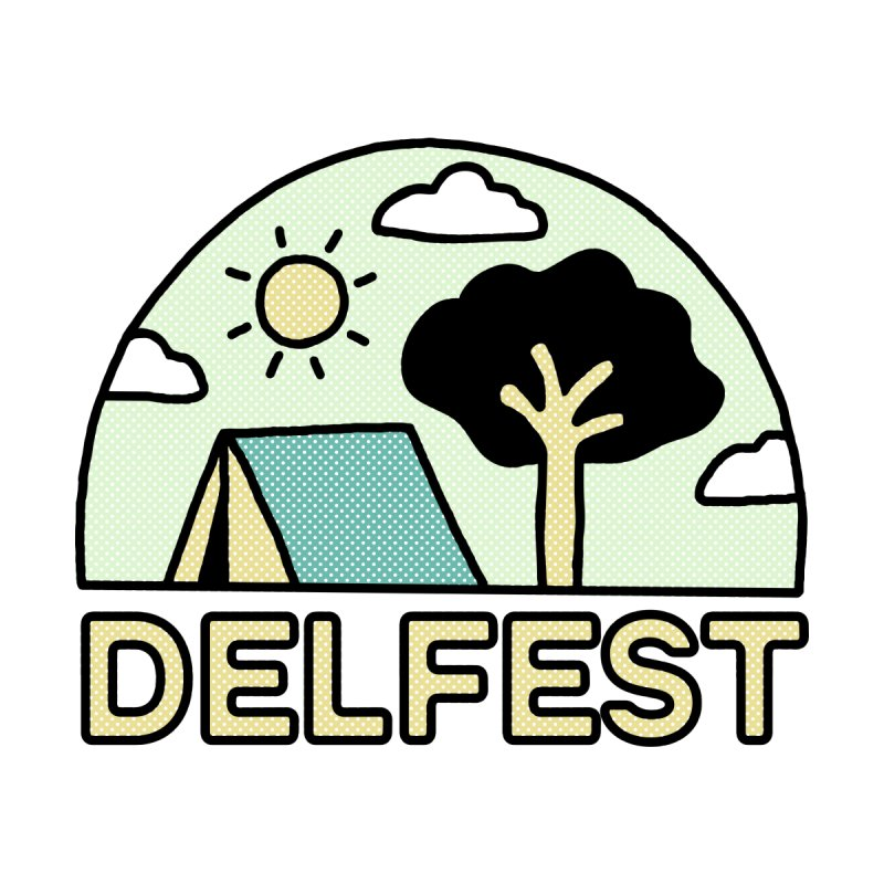 Delfest Campin' Men's T-Shirt by troublemuffin's Artist Shop
