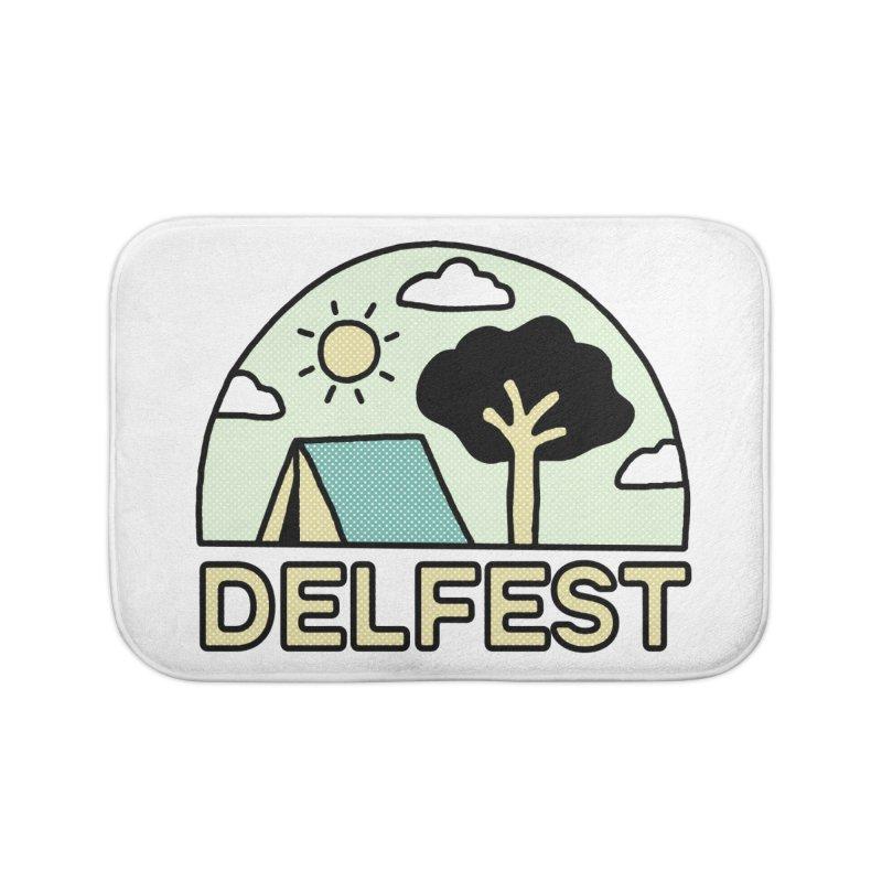 Delfest Campin' Home Bath Mat by troublemuffin's Artist Shop
