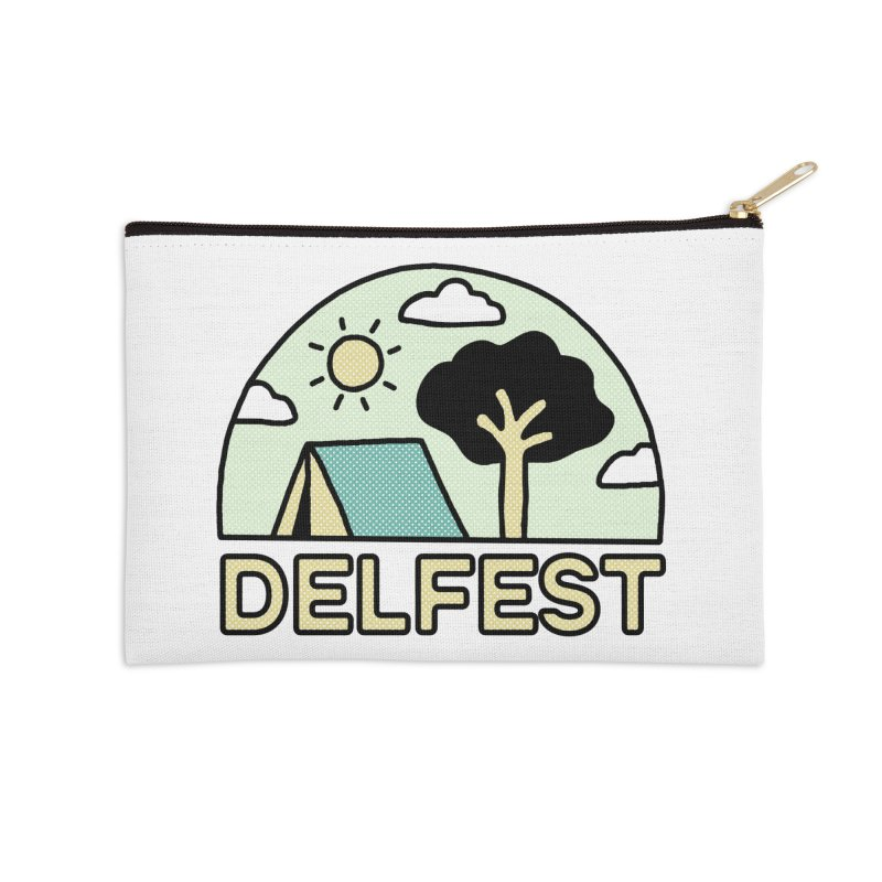 Delfest Campin' Accessories Zip Pouch by troublemuffin's Artist Shop
