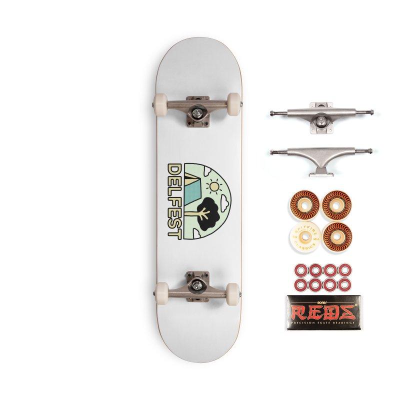 Delfest Campin' Accessories Skateboard by troublemuffin's Artist Shop
