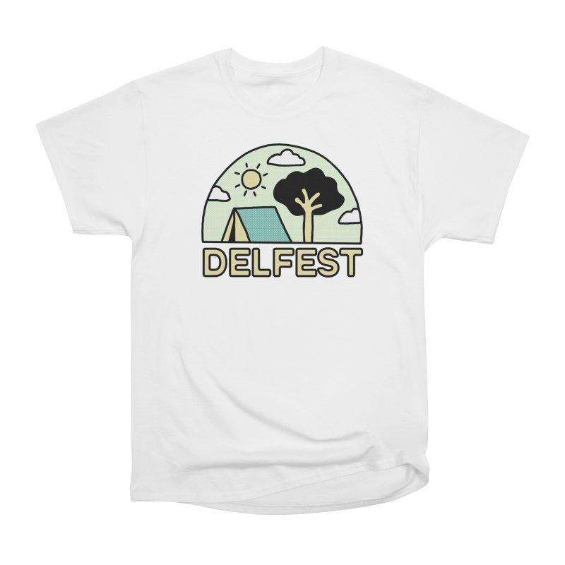 Delfest Campin' Women's T-Shirt by troublemuffin's Artist Shop